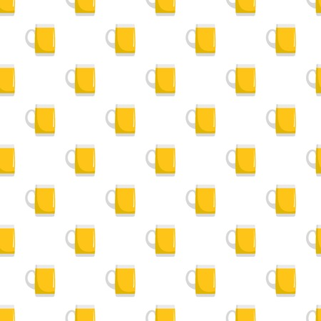 Pint of beer pattern seamless in flat style for any design Stock Photo