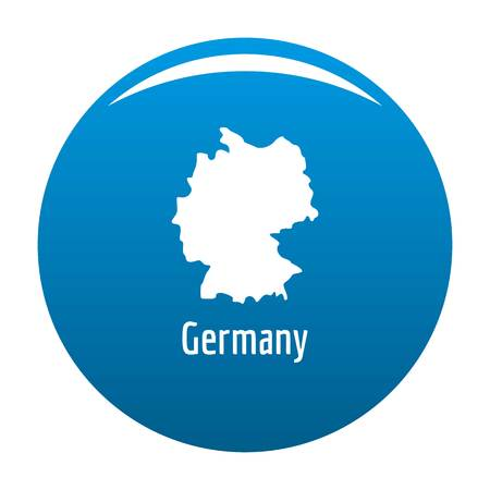 Germany map in black. Simple illustration of Germany map isolated on white background Stock Photo