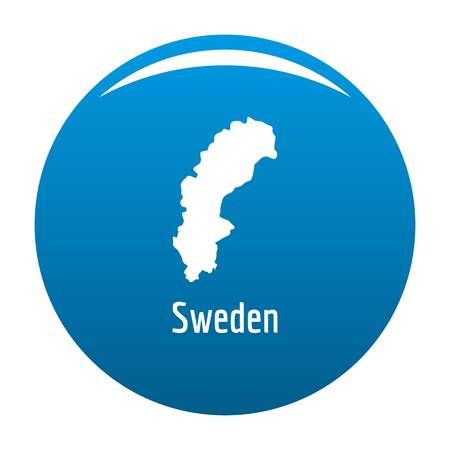 Sweden map in black. Simple illustration of Sweden map isolated on white background