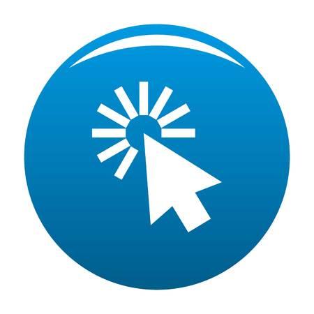 Cursor interface icon blue circle isolated on white background Stock Photo