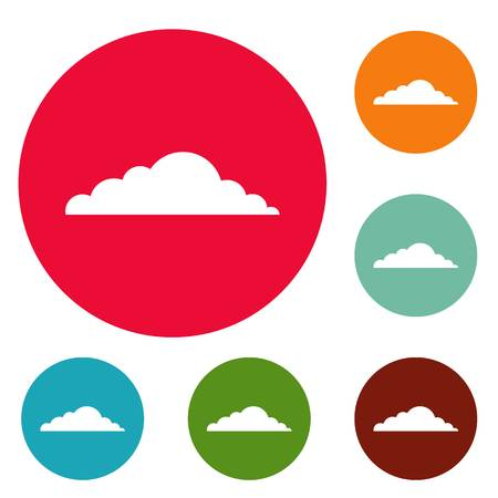 Climate cloud icons circle set isolated on white background
