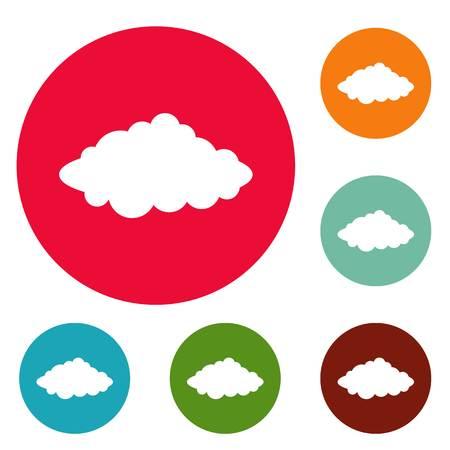 Weather forecast icons circle set isolated on white background Stock Photo
