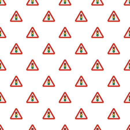 Traffic light pattern seamless in flat style for any design Banque d'images - 105866085