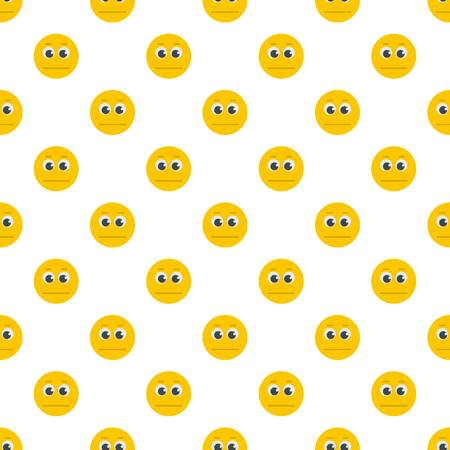 Smile pattern seamless in flat style for any design