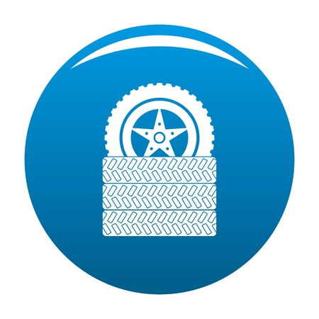 Tire leap icon blue circle isolated on white background