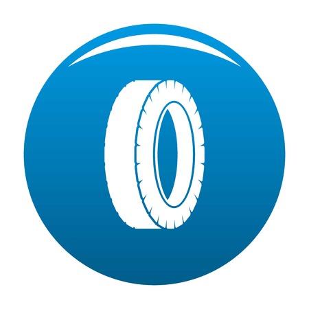 Turning tire icon blue circle isolated on white background