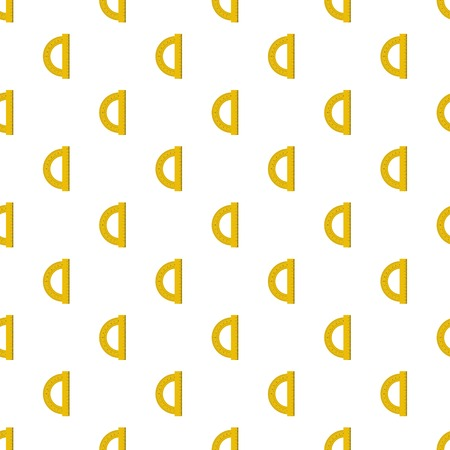 Yellow protractor pattern seamless in flat style for any design Stock Photo