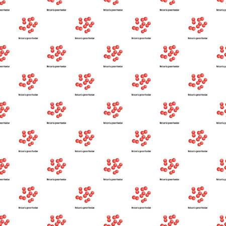 Neisseria gonorrhoedae pattern seamless in flat style for any design