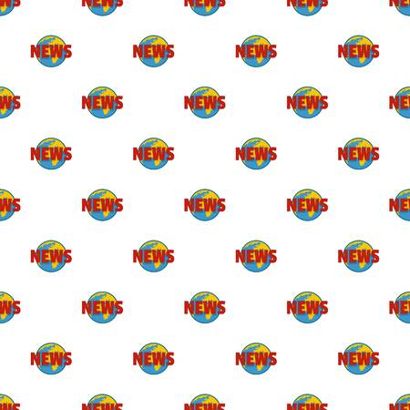 Hot news pattern seamless in flat style for any design Stock Photo