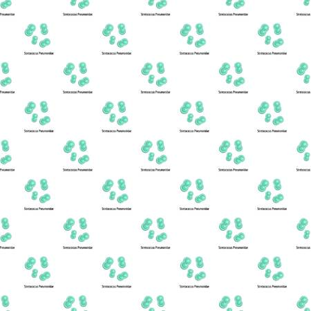 Stretococcus pneumonidae pattern seamless in flat style for any design