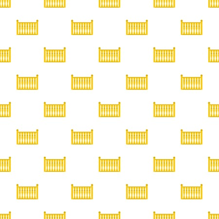 Fence with column pattern seamless in flat style for any design Stock Photo