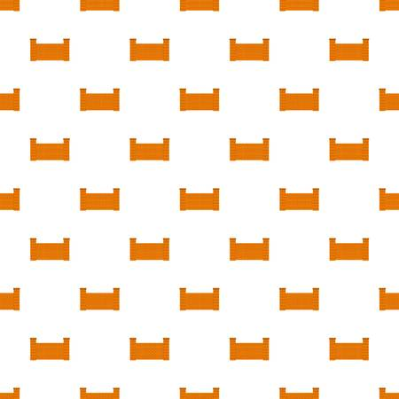 Fence of brick pattern seamless in flat style for any design Stock Photo