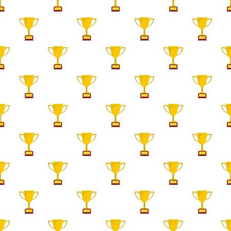Cup award pattern seamless in flat style for any design Stock Photo