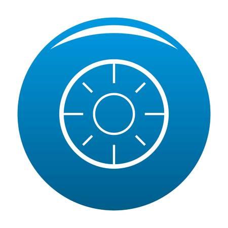 Backsight icon blue circle isolated on white background