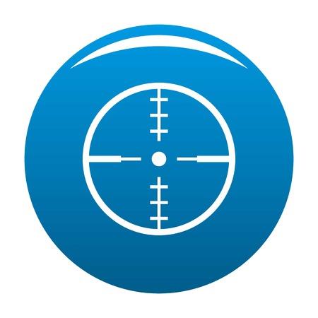 Thing radar icon blue circle isolated on white background