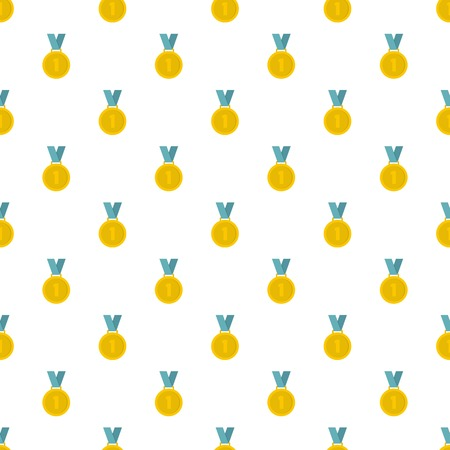 Medal pattern seamless in flat style for any design Stock Photo