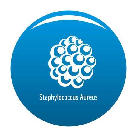 Staphylococcus aureus icon blue circle isolated on white background Stock Photo - 105861754