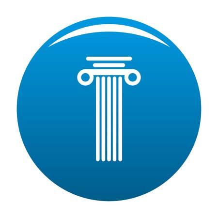 Square column icon blue circle isolated on white background Stock Photo