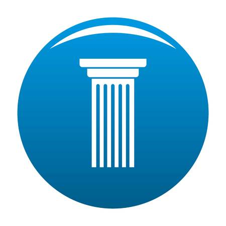 Italian column icon blue circle isolated on white background