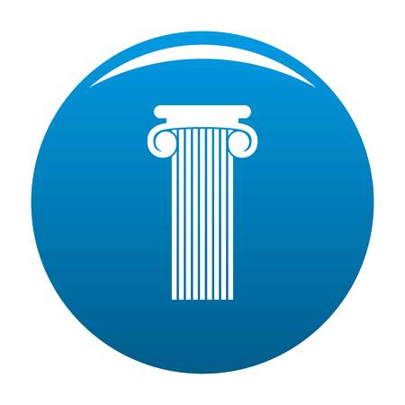 Roman column icon blue circle isolated on white background