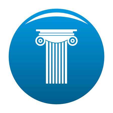 Reinforced concrete column icon blue circle isolated on white background Stock Photo