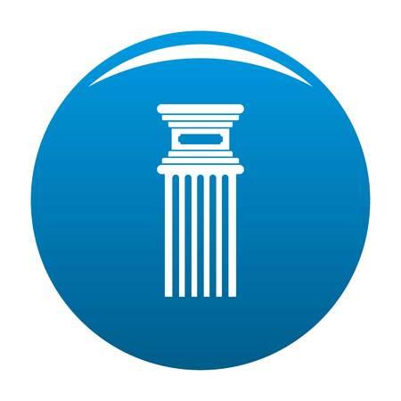 Antique column icon blue circle isolated on white background