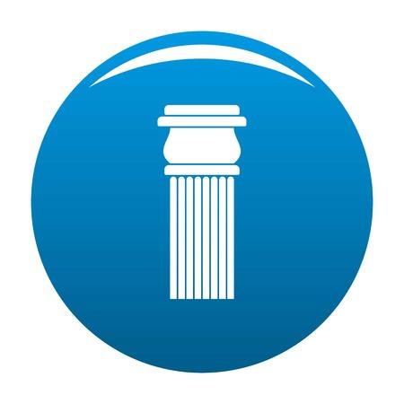 Stone column icon blue circle isolated on white background
