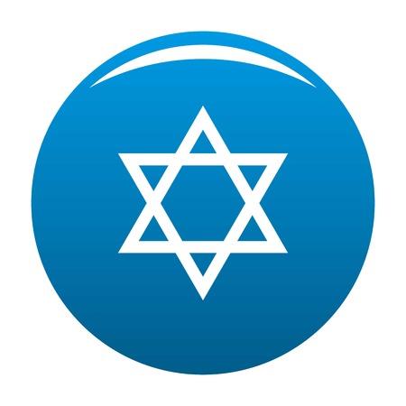 David star icon blue circle isolated on white background Stock Photo