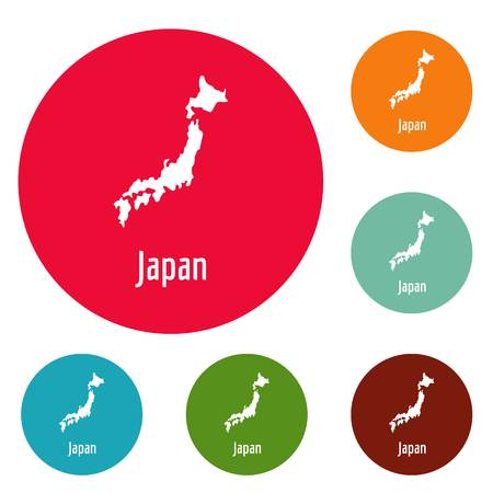 Japan map in black. Simple illustration of Japan map isolated on white background