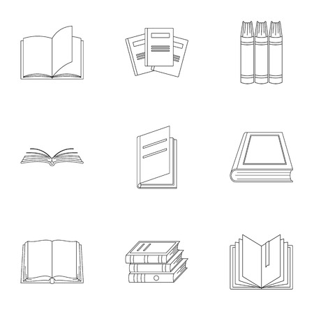 Volume icons set. Outline set of 9 volume icons for web isolated on white background Banco de Imagens