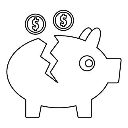 692 Broken Piggy Bank Stock Vector Illustration And Royalty Free