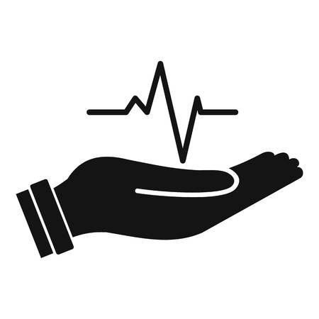 Heartbeat icon, simple style Stock Photo