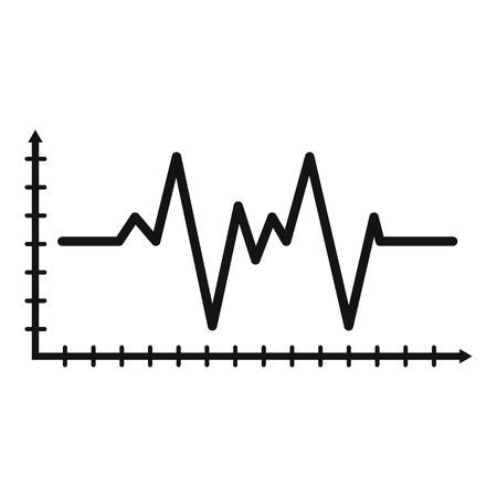 Cardiogram icon, simple style Stock Photo