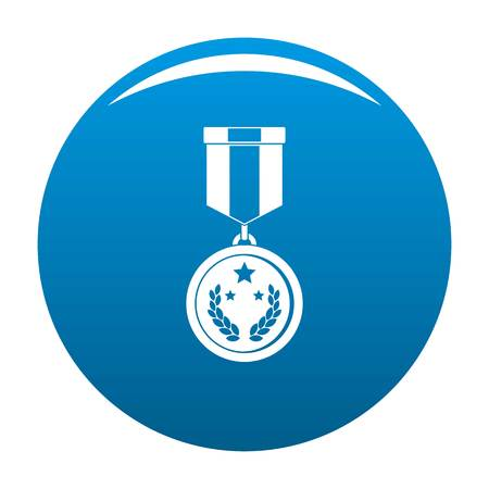 Medal icon blue