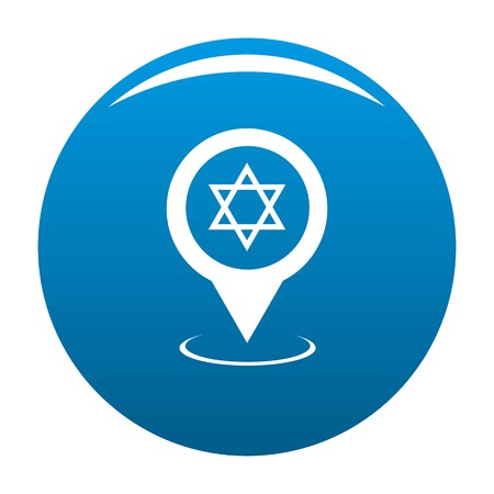 Synagogue map pointer icon blue