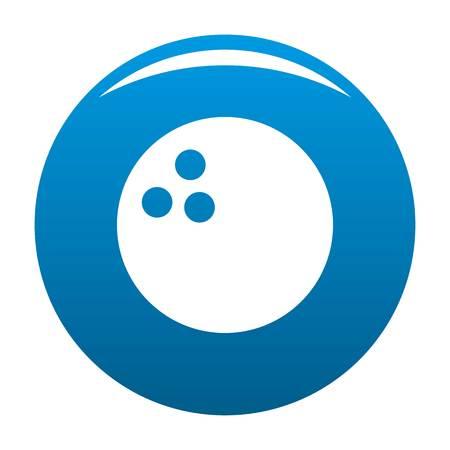 Bowling icon blue