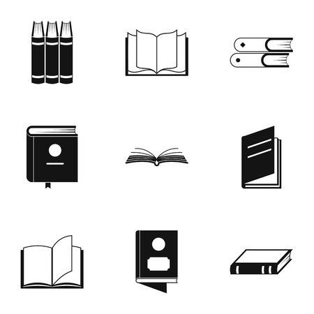 Reference point icons set. Simple set of 9 reference point icons for web isolated on white background Banco de Imagens