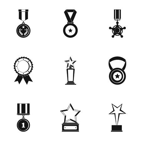 Portion icons set. Simple set of 9 portion icons for web isolated on white background