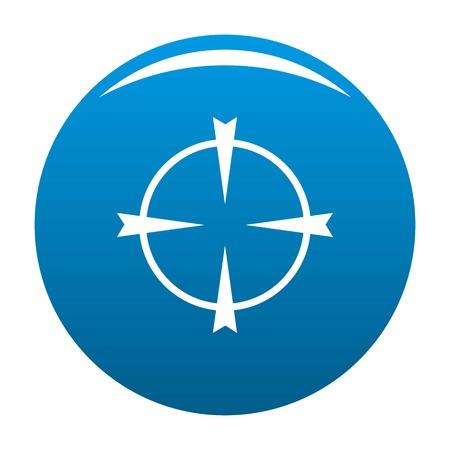 Optical radar icon blue circle isolated on white background Stock Photo