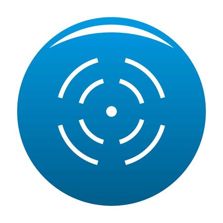Point radar icon blue circle isolated on white background