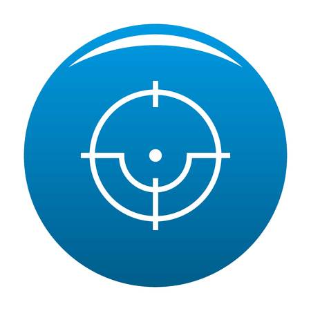 Sniper icon blue circle isolated on white background Stock Photo