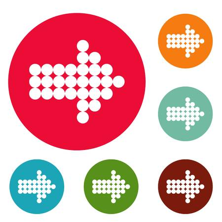Arrow icons circle set Stock Photo - 105953715