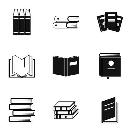 Instruction icons set. Simple set of 9 instruction icons for web isolated on white background