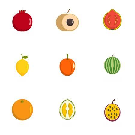 Fetal icons set. flat set of 9 fetal icons for web isolated on white background