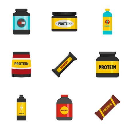 Powder icons set. flat set of 9 powder icons for web isolated on white background