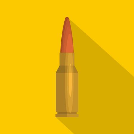 Big cartridge icon. Flat illustration of big cartridge icon for web Stock Photo