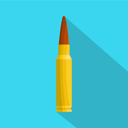 Small bullet icon. Flat illustration of small bullet icon for web