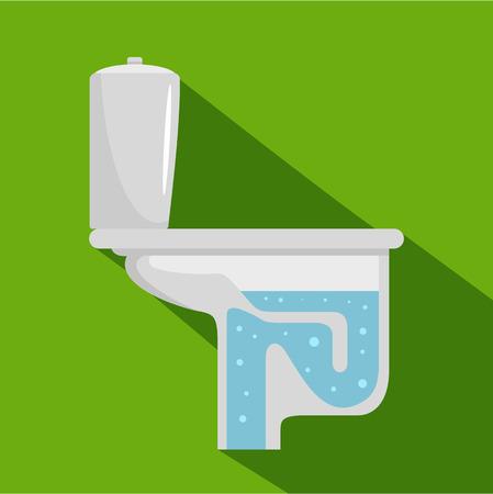 Toilet equipment icon, flat style
