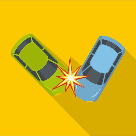 Hard collision icon, flat style