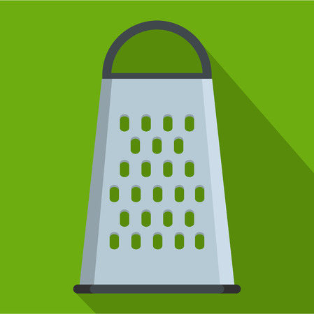 Grater icon, flat style Stock Photo